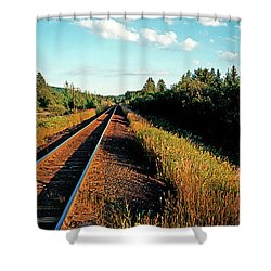 Rural Country Side Train Tracks Shower Curtain