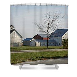 Rural Farm Central Il Shower Curtain by Thomas Woolworth