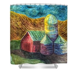 Rural Farm Shower Curtain by Jame Hayes