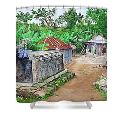 Rural Haiti - A Study In Poignancy Shower Curtain