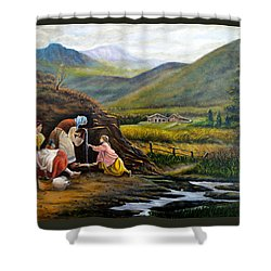 Rural Life Shower Curtain by Tony Banos