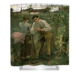 Rural Love Shower Curtain by Jules Bastien Lepage