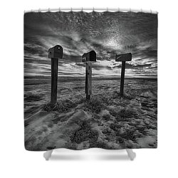 Rural Mail Shower Curtain by Ian McGregor