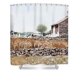 Rural Maine Shower Curtain by Monte Toon