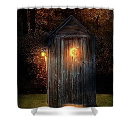 Shower Curtain featuring the photograph Rural - Outhouse - Do The Necessary by Mike Savad