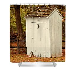 Shower Curtain featuring the photograph Rural - Outhouse - When Nature Calls by Mike Savad