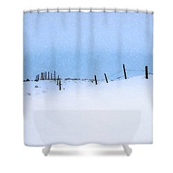 Rural Prairie Winter Landscape Shower Curtain