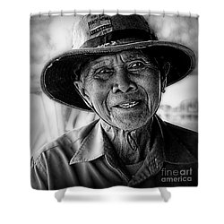 Rural Rice Farmer Shower Curtain