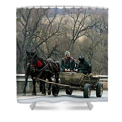 Rural Romania Shower Curtain
