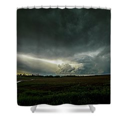 Rural Spring Storm Over Chester Nebraska Shower Curtain