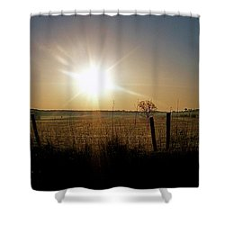 Rural Sunrise Shower Curtain by Sue Stefanowicz