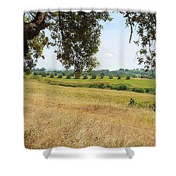 Shower Curtain featuring the photograph Rural Tuscany by Valentino Visentini