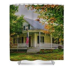 Shower Curtain featuring the photograph Rural Vermont Farm House by Deborah Benoit