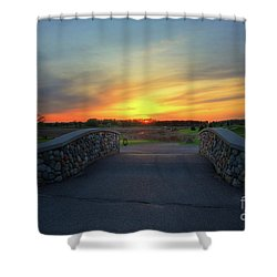 Rush Creek Golf Course The Bridge To Sunset Shower Curtain