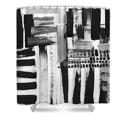 Shower Curtain featuring the mixed media Rush Hour- Art By Linda Woods by Linda Woods