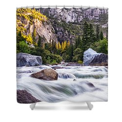 Rush Of The Merced Shower Curtain