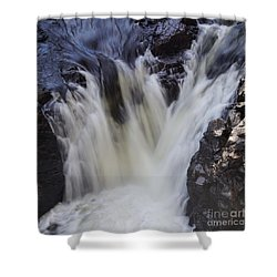 Shower Curtain featuring the photograph Rushing by Aimelle