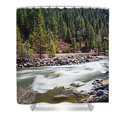 Shower Curtain featuring the photograph Rushing River by Dart Humeston