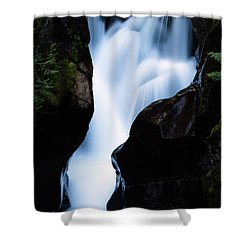 Rushing Through The Rocks Shower Curtain