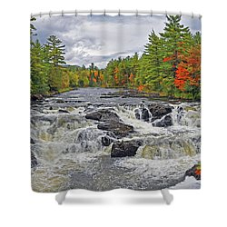 Shower Curtain featuring the photograph Rushing Towards Fall by Glenn Gordon