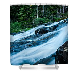 Shower Curtain featuring the photograph Rushing Waters by Jay Stockhaus