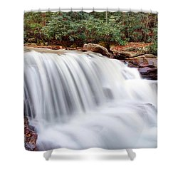 Rushing Waters Of Decker Creek Shower Curtain by Gene Walls