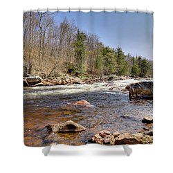Shower Curtain featuring the photograph Rushing Waters Of The Moose River by David Patterson