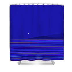 Shower Curtain featuring the digital art Rushing Waters by Val Arie