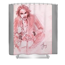 Russell Brand Shower Curtain