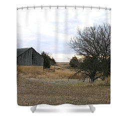 Russell County Barn Shower Curtain
