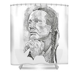 Russell Means Shower Curtain