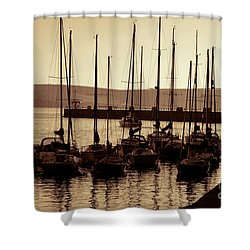 Russet Harbour Shower Curtain