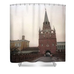 Russia Kremlin Entrance  Shower Curtain by Ted Pollard