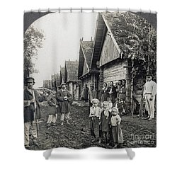 Russia: Peasants Shower Curtain by Granger