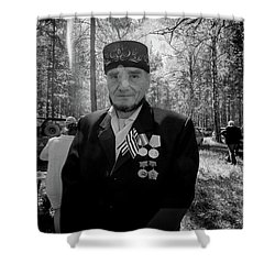 Shower Curtain featuring the photograph Russian Afghanistan War Veteran by John Williams