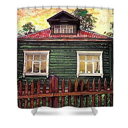 Russian House 2 Shower Curtain by Sarah Loft