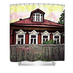 Russian House Shower Curtain by Sarah Loft