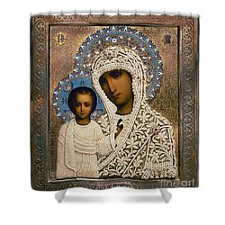 Russian Icon: Mary Shower Curtain by Granger