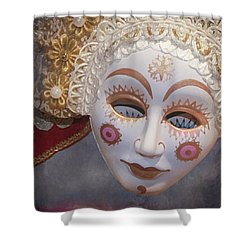 Russian Mask 4 Shower Curtain by Jeff Burgess