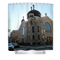 Russian Orthodox Cathedral Of The Transfiguration Of Our Lord Shower Curtain