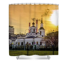 Shower Curtain featuring the photograph Russian Ortodox Church In Moscow, Russia by Alexey Stiop