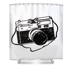 Russian Shower Curtain by Renee Reiko Campbell