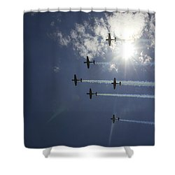 Shower Curtain featuring the photograph Russian Roolettes And Sydney Sun by Miroslava Jurcik