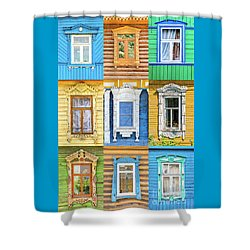 Shower Curtain featuring the photograph Russian Windows by Delphimages Photo Creations