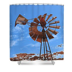 Shower Curtain featuring the photograph Rust Age by Stephen Mitchell