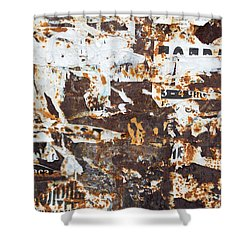 Shower Curtain featuring the photograph Rust And Torn Paper Posters by John Williams