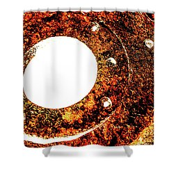 Rust In Infrared Shower Curtain by Onyonet  Photo Studios