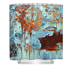 Shower Curtain featuring the photograph Rust - My Rusted World - Train - Abstract by Janine Riley