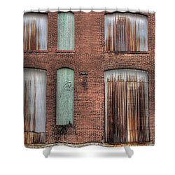 Rust Never Sleeps Shower Curtain by Jane Linders