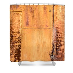 Shower Curtain featuring the photograph Rust On Metal Texture by John Williams